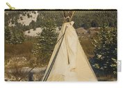 Teepee In The Snow 2 Carry-all Pouch