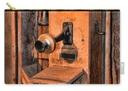 Telephone - Antique Hand Cranked Phone Carry-all Pouch