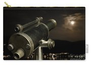 Telescope And Red Moon Carry-all Pouch