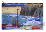 Painting Tenby Harbour With Boats Carry-all Pouch