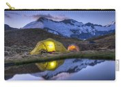 Tents Lit By Flashlight On Cascade Carry-all Pouch