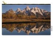 Teton Range, Grand Teton National Park Carry-all Pouch by Pete Oxford