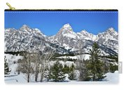 Teton Winter Landscape Carry-all Pouch