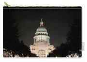 Texas Capitol Building At Night - Horz Carry-all Pouch