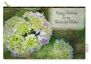 Textured Hydrangeas Birthday Mother Greeting Card Carry-all Pouch