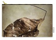 Textured Leaf Carry-all Pouch