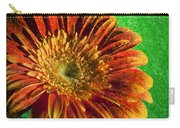 Textured Orange Flower Carry-all Pouch