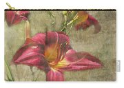 Textured Red Daylilies Carry-all Pouch