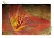 Textured Red Daylily Carry-all Pouch