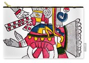 Tezcatlipoca, Aztec God Of Night, Codex Carry-all Pouch by Photo Researchers