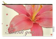 Thank You Card - Pink Lily Carry-all Pouch