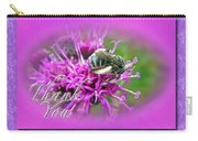 Thank You Greeting Card - Bumblebee On Ironweed Carry-all Pouch