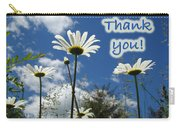 Thank You Greeting Card - Oxeye Daisy Wildflowers Carry-all Pouch