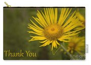 Thank You Yellow Aster Carry-all Pouch
