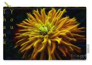 thank you Zinnia Flower Carry-all Pouch