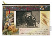 Thanksgiving Card, 1909 Carry-all Pouch