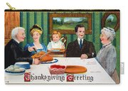 Thanksgiving Card, 1910 Carry-all Pouch