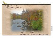 Thanksgiving Greeting Card - Autumn Creek Carry-all Pouch