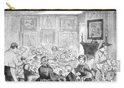 Thanskgiving Dinner, 1857 Carry-all Pouch