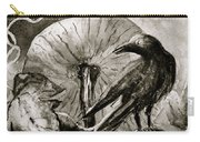 That Which Lies Behind In Black And White Carry-all Pouch