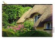 Thatched Cottage With Pink Flowers Carry-all Pouch