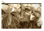 Thawing Sepia Leaves Carry-all Pouch