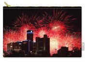The 54th Annual Target Fireworks In Detroit Michigan - Version 2 Carry-all Pouch by Gordon Dean II