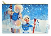 The Aerial Skier - 4 Carry-all Pouch by Hanne Lore Koehler