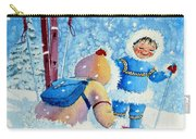 The Aerial Skier - 5 Carry-all Pouch by Hanne Lore Koehler