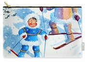 The Aerial Skier - 6 Carry-all Pouch by Hanne Lore Koehler