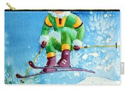 The Aerial Skier - 9 Carry-all Pouch by Hanne Lore Koehler