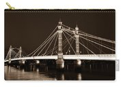 The Albert Bridge London Sepia Toned Carry-all Pouch