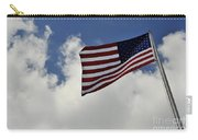 The American Flag Blowing In The Breeze Carry-all Pouch