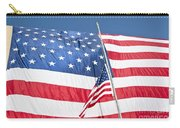 The American Flag Hangs Carry-all Pouch