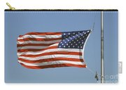 The American Flag Waves At Half-mast Carry-all Pouch