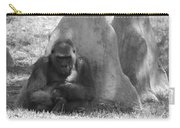 The Angry Ape In Black And White Carry-all Pouch
