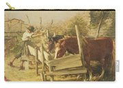 The Appian Way Carry-all Pouch by Henry Herbert La Thangue