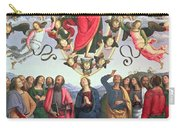 The Ascension Of Christ Carry-all Pouch by Pietro Perugino