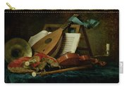 The Attributes Of Music Carry-all Pouch by Anne Vallaer-Coster