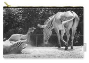 The Back End In Black And White Carry-all Pouch