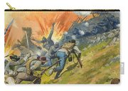 The Battle Of Gettysburg Carry-all Pouch by Severino Baraldi