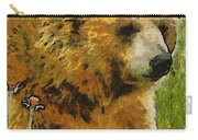 The Bear Painterly Carry-all Pouch