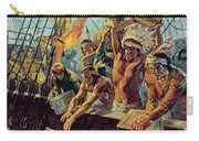 The Boston Tea Party Carry-all Pouch by Luis Arcas Brauner