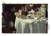 The Breakfast Carry-all Pouch by Claude Monet