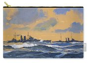 The British Cruisers Hms Exeter And Hms York  Carry-all Pouch