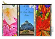 The Buffalo And Erie County Botanical Gardens Triptych Series With Text Carry-all Pouch