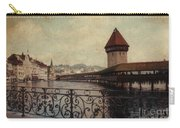 The Chapel Bridge In Lucerne Switzerland Carry-all Pouch