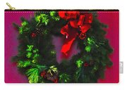 The Christmas Wreath Carry-all Pouch