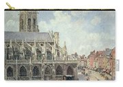 The Church Of Saint Jacques In Dieppe Carry-all Pouch by Camille Pissarro