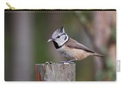 The Crested Tit Having Lunch Carry-all Pouch